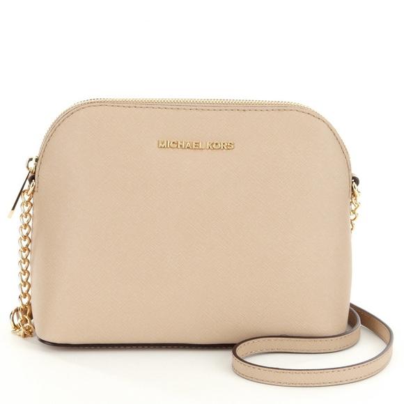e9ef54166150 Handbags - Michael Kors Cindy Gold Chain Strap Crossbody Pink